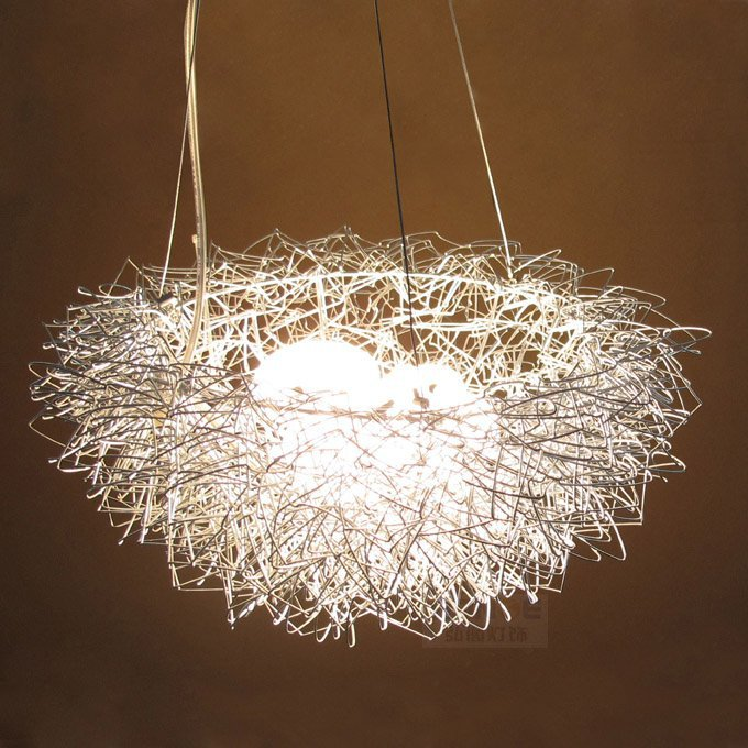 ФОТО Bird's Nest Pendant Light, Hanging Lighting, Ceiling Lamp,Aluminum Pendant Lamp
