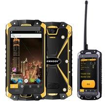 Indústria militar v18 santong ip68 queda de água à prova de poeira 4.5 polegada tela grande 4g ferragem interfone smartphone