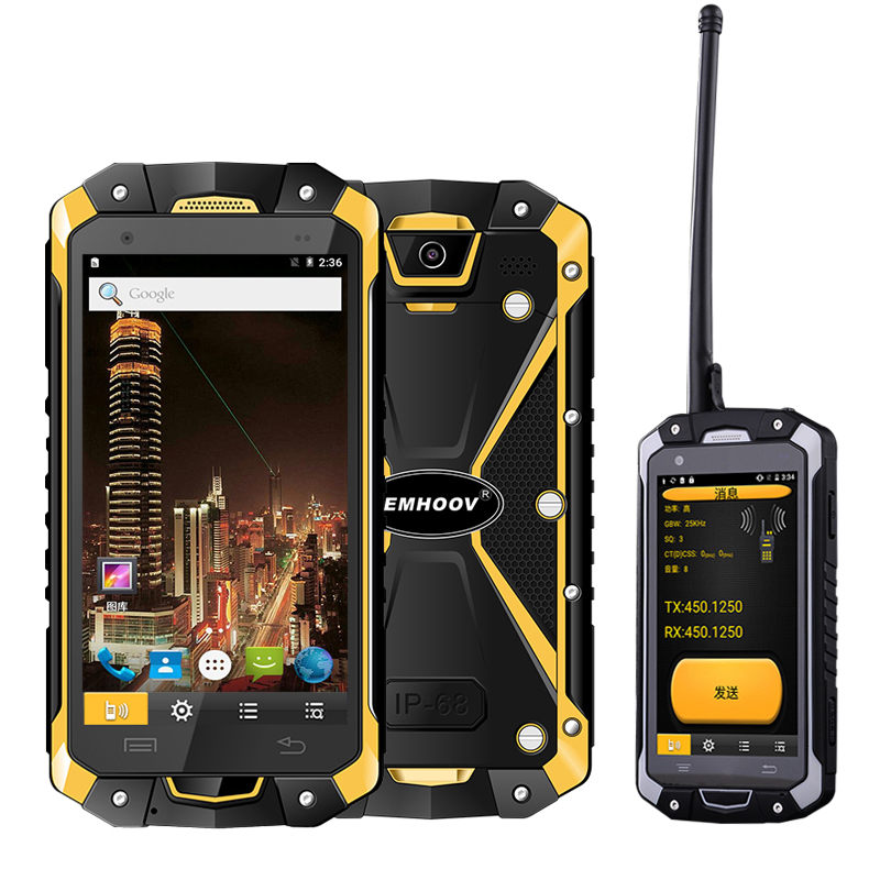 Military Industry V18 Santong IP68 Dust proof Water Fall 4.5 inch Large Screen 4G Hardware Interphone Smartphone-in Cellphones from Cellphones & Telecommunications