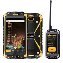 Military Industry V18 Santong IP68 Dust proof Water Fall 4.5 inch Large Screen 4G Hardware Interphone Smartphone