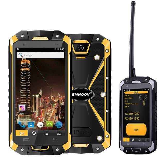 軍事産業 V18 Santong IP68 防塵水秋 4.5 インチ大画面 4 グラムハードウェアインターホンスマートフォン