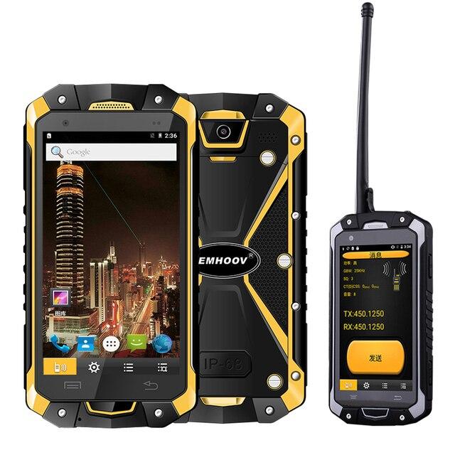 צבאי תעשיית V18 Santong IP68 אבק הוכחה מים סתיו 4.5 אינץ מסך גדול 4G חומרה פנימי Smartphone
