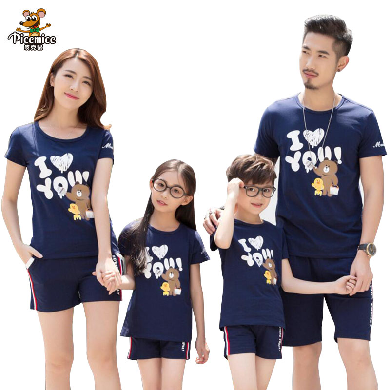 Family Look Girl And Mother T Shirt Shorts Family Matching