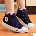 High-top women shoes 2016 fashion new woman flats shoes women casual breathable classic canvas  shoes
