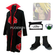 2014 new anime Uzumaki Naruto Deidara Akatsuki Cosplay Costume red cloak cosplay man and women costumeWhole Set