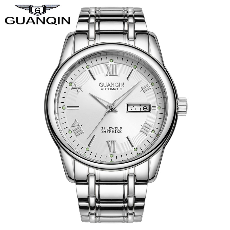 Luxury Brand Fashion Full Steel Wristwatch Clock Waterproof Men Business Automatic Mechanical Watches Free Shipping 200m diver hollow skeleton automatic mechanical watches mens top brand luxury business full steel winner wristwatch clock hour