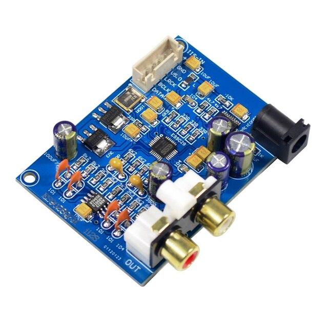 Плата декодера AIYIMA ES9028Q2M ES9028 I2S, входная Плата декодера DAC DC 9 12 В, обновленная плата ES9018 для усилителя DIY