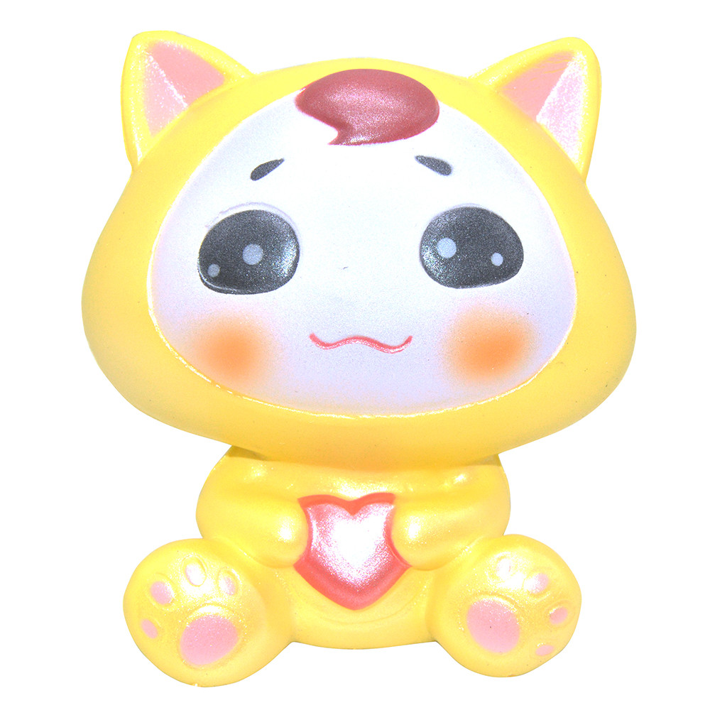 Kawaii Squishies Slow Rising Jumbo Adorable Cartoon Fox Cute Squishy Toys Stress Reliever 30S8315 drop shipping