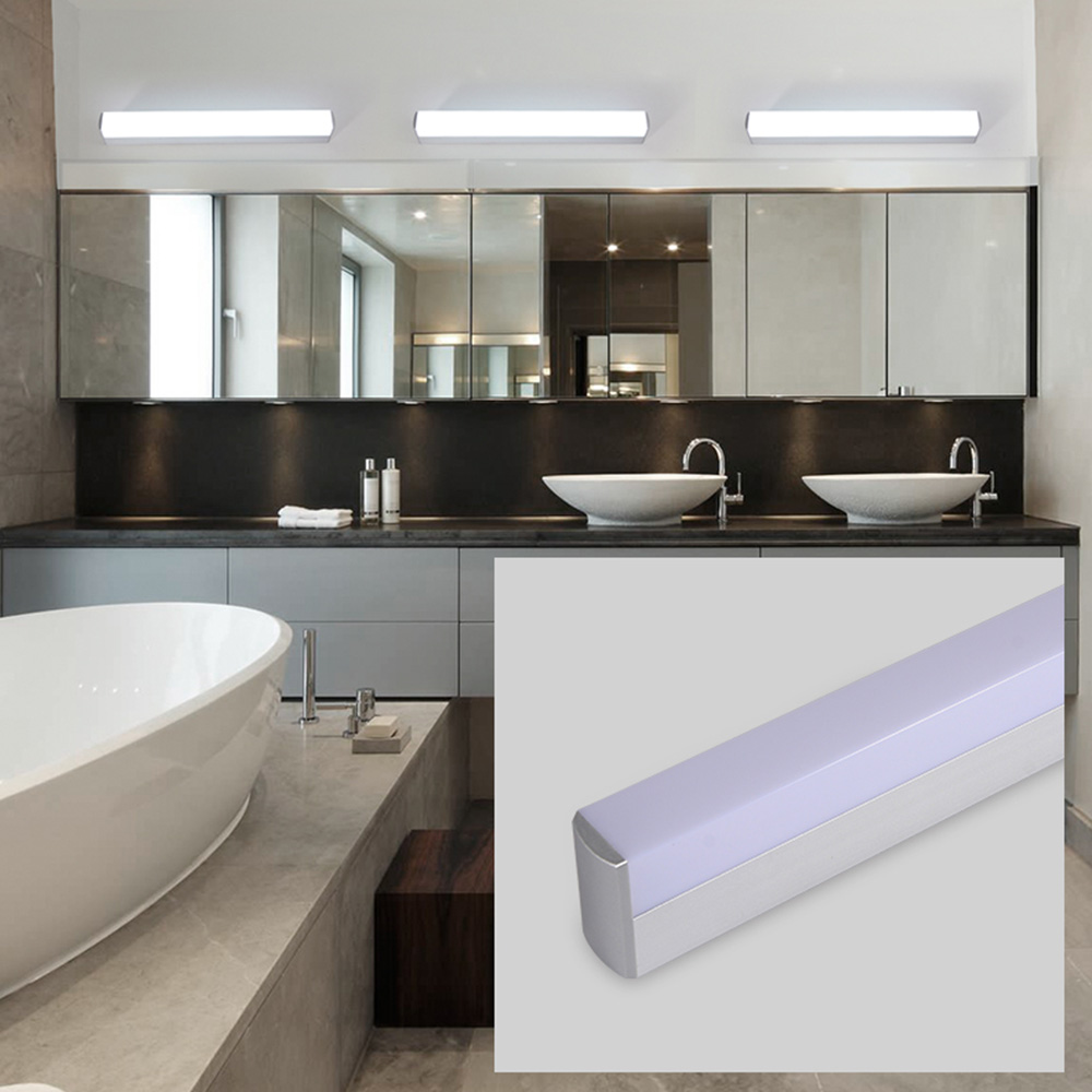Modern led mirror light 12W 16W 22W waterproof wall lamp fixture Acrylic wall mounted bathroom lighting 12w 16w 22w modern minimalist led metal wall lamp bedside lamp corridor aisle mirror bathroom light white