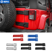 MOPAI ABS Car Exterior Rear Spare Tire Tailgate Door Hinge Decoration Cover Stickers for Jeep Wrangler JK 2007 Up Car Styling