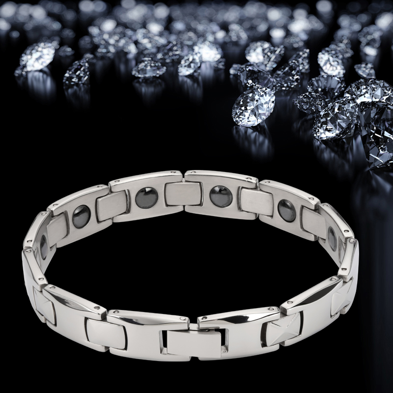 2019 Fashion man Bangles bracelets for men bijoux titanium 316L stainless steel Jewelry charm therapy magnetic bracelet (4)