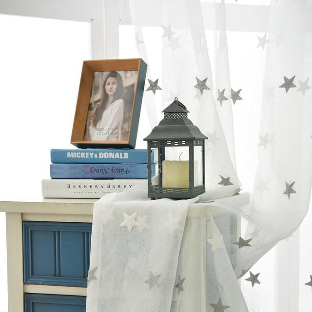 [Byetee] Tulle Sheer Nhà Bếp Thêu Organza Trẻ Em Rèm Cửa Cửa Ra Vào Cho Trẻ Em Phòng Ngủ Phòng Khách Bé Phòng Cửa Sổ Sợi Rèm
