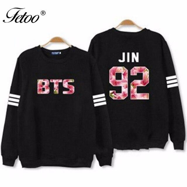Kpop Women BTS JIN Hoodies Long Sleeve Sweatshirts Women Letter Print Plus Size Tracksuit S-2XL Hot Fashion Hoody Spring P35
