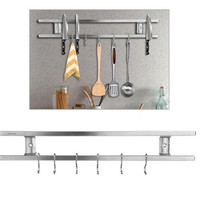 Wall mounted Magnetic Knife Holder Double Bar Knife Rack Knives Utensils Kitchen Sets