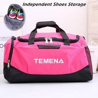 TEMENA 30L Sports Gym Bags With Shoes Compartment Men Large Dufflel Bag Waterproof Shoulder Strap Travel