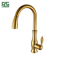 FLG Kitchen Faucet Pull Out Deck Mounted Pull Swivel 360 Degree Rotating Cold And Hot Tap