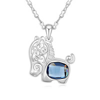 Exclusive Unique Jewellery For Women Fashion Horse Pendant Necklace Crystals From Swarovski Lady Swarovski Elements Bijoux