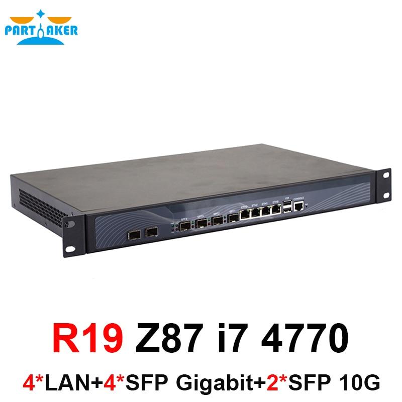 Причастником R19 1U сетевой брандмауэр служить сетевой безопасности с intel Core LGA1150 i7 4770 2 ГБ оперативной памяти 8 ГБ SSD