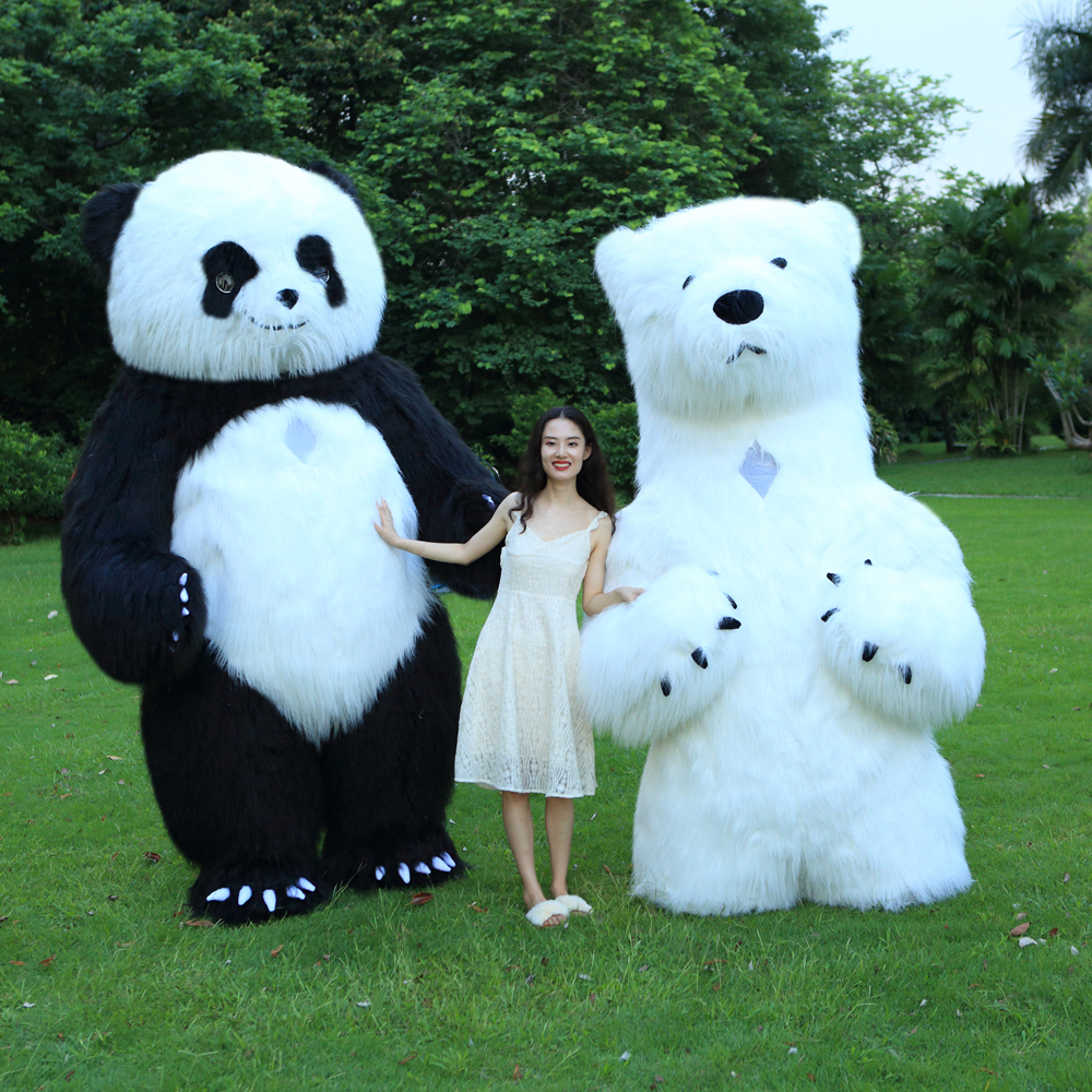 New Style Inflatable Panda Costume Inflatable Panda For Advertising 3M Tall Customize For Adult Suitable For 1.7m To 1.9m Adult