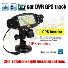 best price 2.7″ inch Video Car Camera Dual Lens Recorder GPS module HD IR Night Vision DVR R310 dash cam