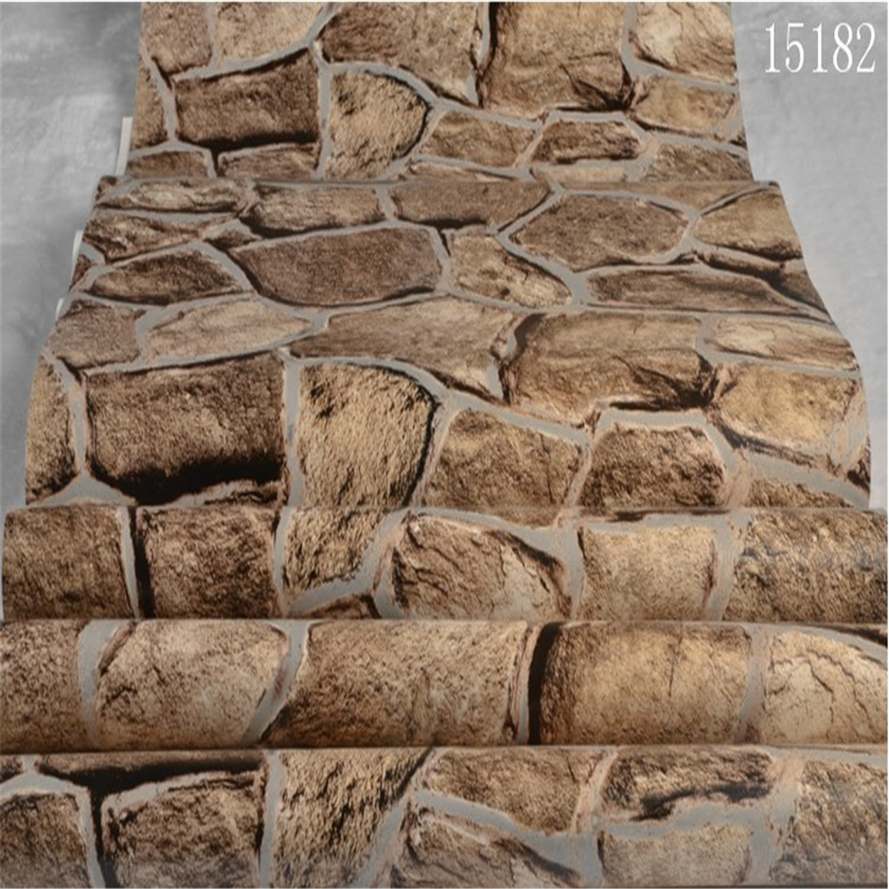 beibehang Chinese imitation stone pattern wallpaper can be cleaned teahouse closet corri ...
