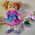Meninas da forma da boneca de pelúcia de alta qualidade 15 polegada 18 polegada rosa boneca do brinquedo da moda para crianças pano fácil retirado da máquina lavável