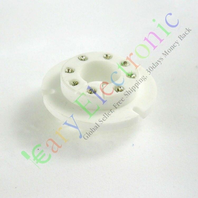 Wholesale and retail 6pc 8pin Ceramic vacuum tube sockets For FU50 GU50 LV3 5U8C 5U9C FU15 audio amp