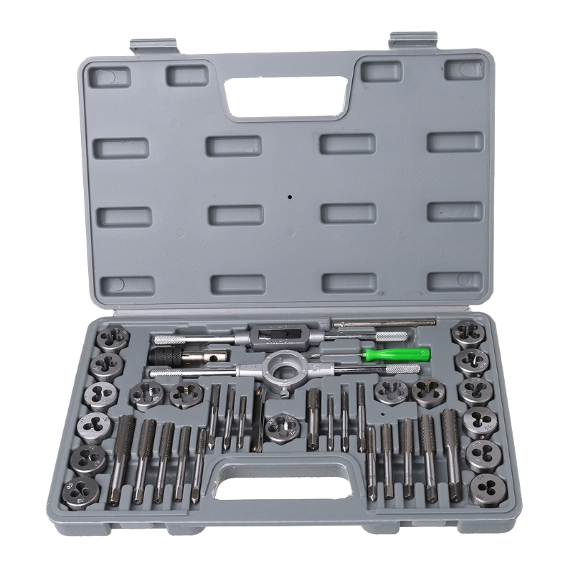 7Pcs Screw Thread Tap Drill /&T-Handle Ratchet Tap Pitch Wrench /& Screw Gauge Kit