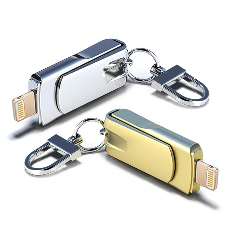 Personalizado Memory Stick Lightning USB Pendrive 32GB Flash Drive 64GB For iPhone 16GB 128GB Pen Drives For Laptop Desktop PC