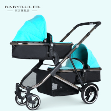 Babyruler twins baby stroller folding double stroller child baby stroller