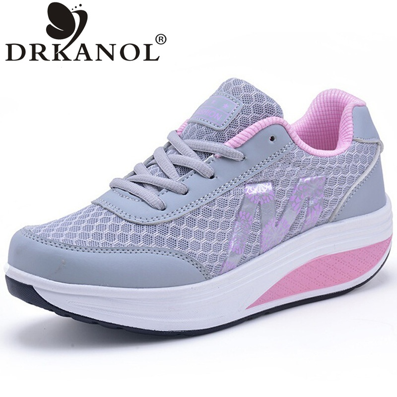 New summer fashion breathable air mesh shoes lace-up platform swing shoes comfortable women casual shoes size 35-40  fashion designer famous brand air mesh glossy men casual shoes summer outdoor breathable durable lace up unisex fashion shoes