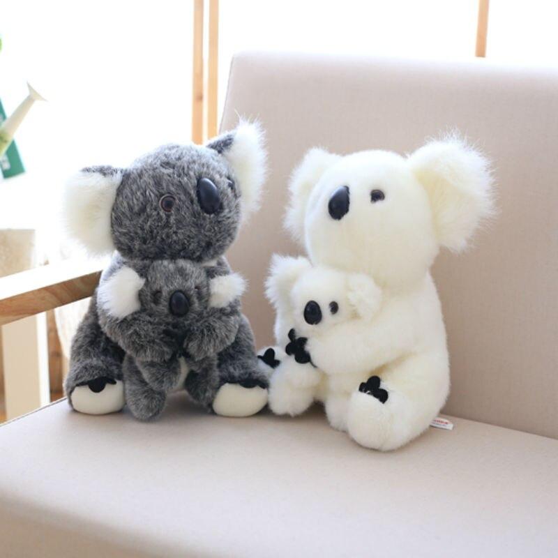 28 cm Soft Simulation Mom and baby Koala Plush Toy Stuffed Animal Australia Treasure Koala Baby Dolls Or Home Decoration