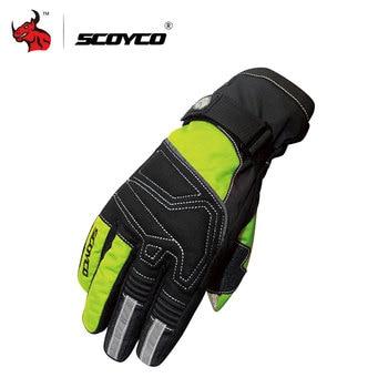 Guantes de Moto SCOYCO esquí Snowboard guantes de pantalla táctil Luva Moto guantes de montar a prueba de viento guantes de motocicleta impermeables