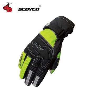 SCOYCO guantes de Moto, esquí, Snowboard, guantes de pantalla táctil Luva Moto montar guantes a prueba de viento impermeable guantes de la motocicleta