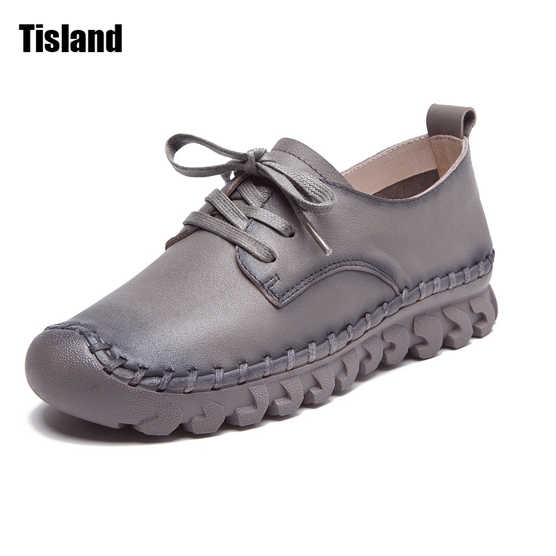 Fashion Women Casual Shoes,High Quality Genuine Leather Shoes Oxfords Female Round Toe Lace UP Flat Leise Soft Comfortable Shoes 2017 new women shoes genuine leather casual shoes flats breathable lace up soft fashion brand shoes comfortable round toe white