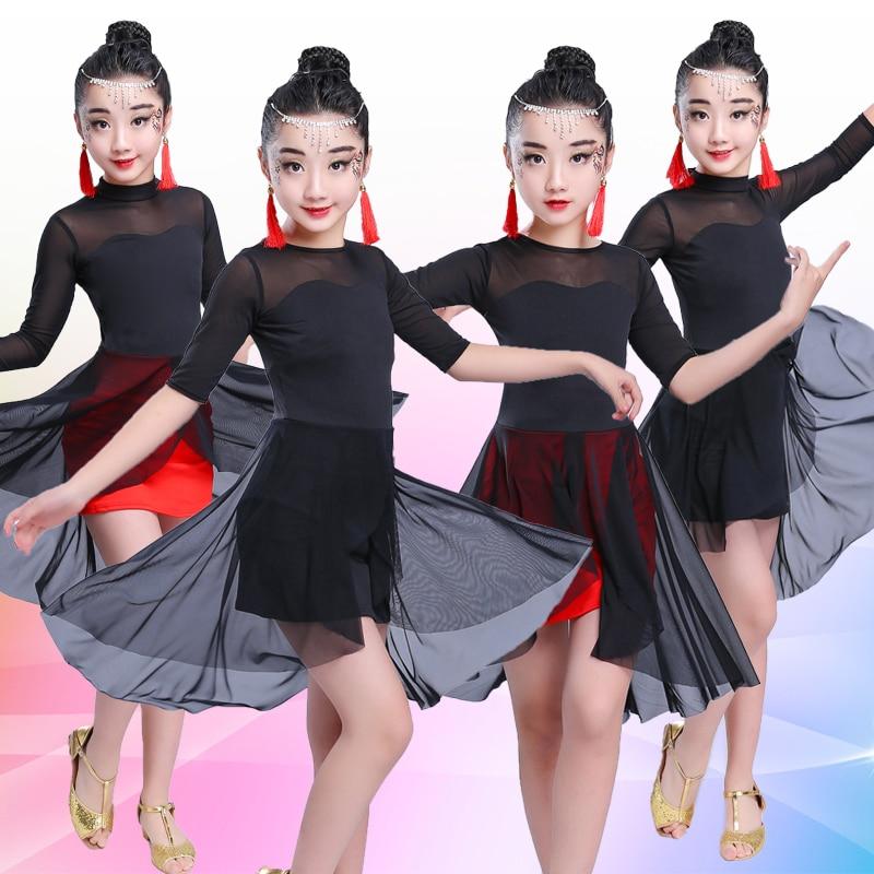 Girl Latin Dance Dress For Girls Cha Cha Dress Ballroom Dancing Dress Girl Competition Dancewear Kids Kid Dance Costumes