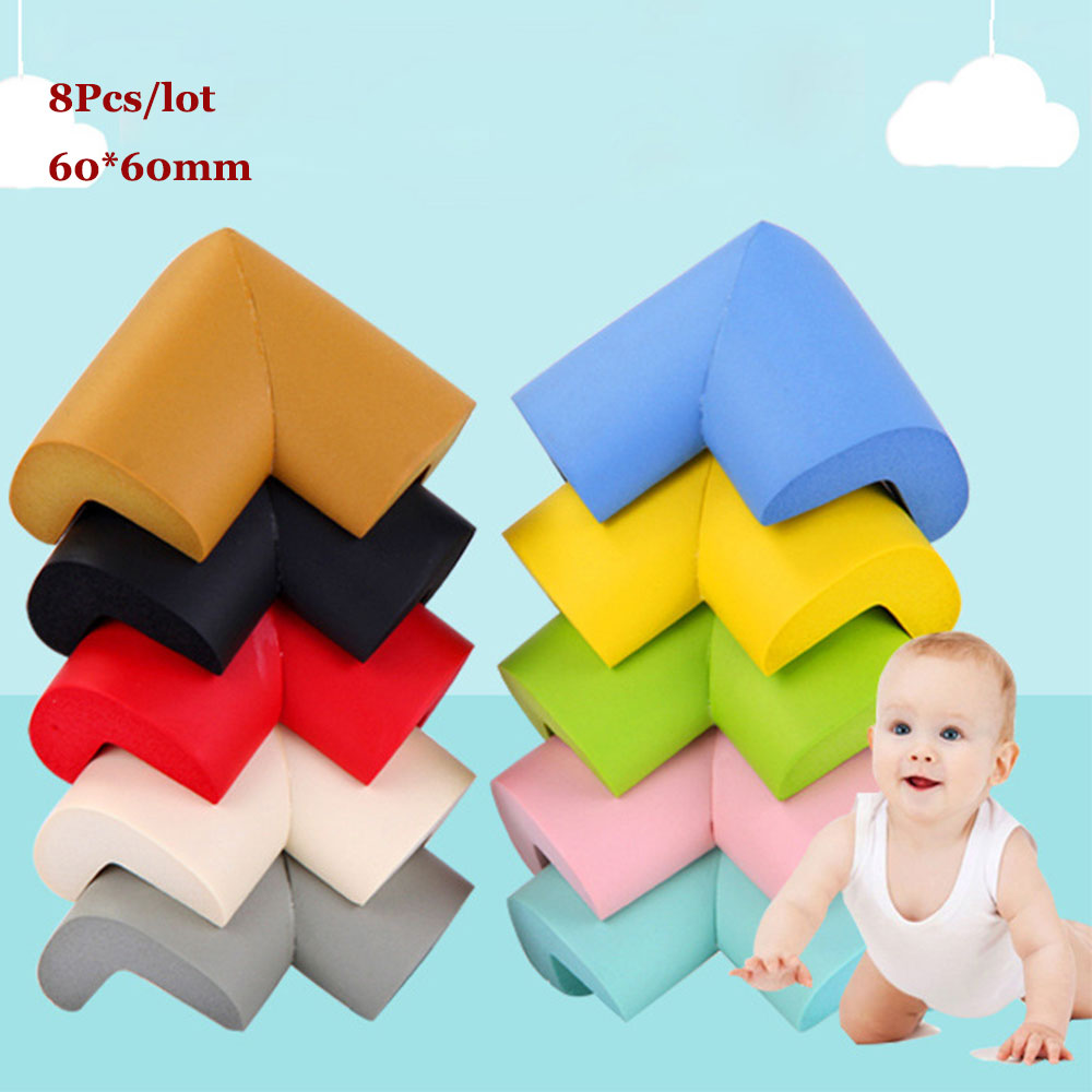 8Pcs/lot Anti-collision Baby Safety Edge Corner Guards Glass Table L Baby Protection Child Furniture Corner Protector 60x60mm