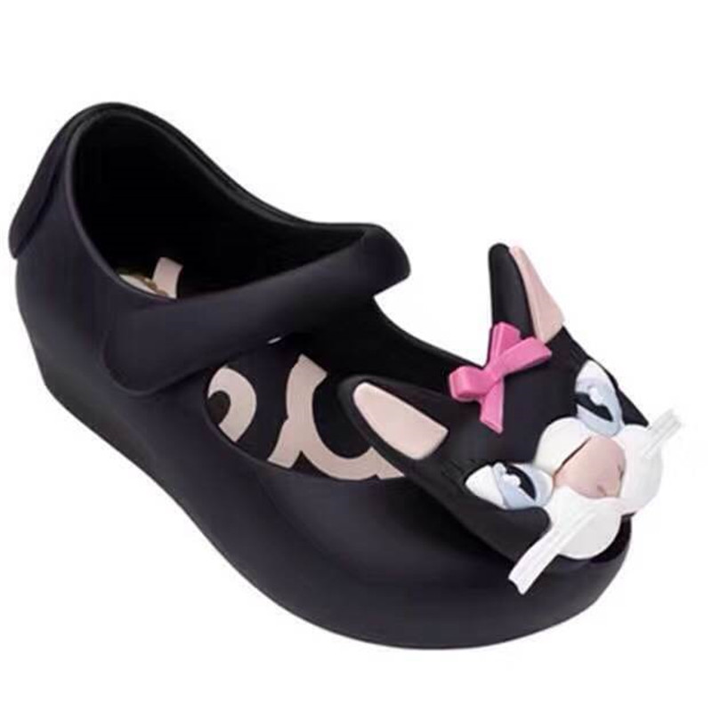Fashion Design Mini Melissa Girls anti skid font b Sandals b font Children Jelly Shoes cute