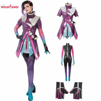 Sombra Cosplay Costume Women Purple Clothing Jumpsuit Coat - DISCOUNT ITEM  0% OFF All Category