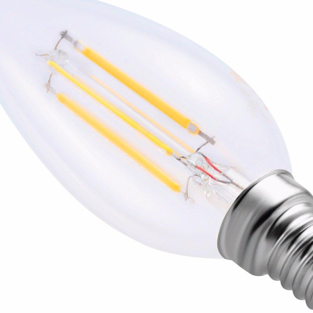 GOSUN 2W E14 C37 Led Bulb Glass Led Filament Bulb Home Lighting ...
