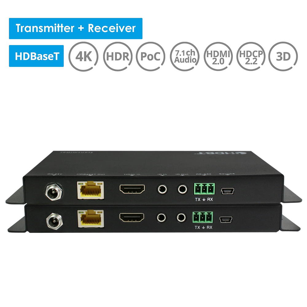 Image 4 - New 4096x2160@60Hz HDMI 2.0 & HDCP 2.2 HDMI HDBaseT IR Extender 70m Over UTP/STP Cat5e Cat6 Cable 4K HDMI POC Extender YUV 4:4:4cable 4khdmi hdbasethdmi 2.0 -
