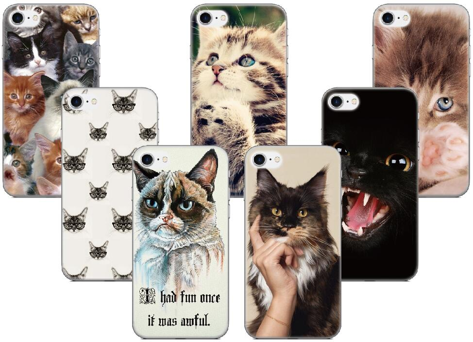 Funny Cat Phone Cover For HTC one X M7 M8 M9 Plus M10 A9 Desire 510 For Huawei Honor 9 Lite V9 P20 Mate 10 Y7 Y5 Y6 2017 Case