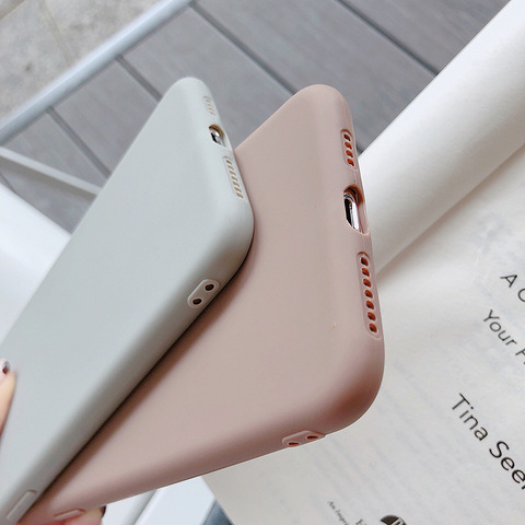 Ultra thin Solid Color Cases For iPhone 4 4s 5S SE 6 6S 7 8 Plus XR XS 11 Pro Max Soft TPU Case Phone Cover Karachi