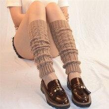 Женские зимние весенние вязать крючком для ног теплые носки сапоги до колена отделка ботинок теплые однотонные Тела Теплые polainas
