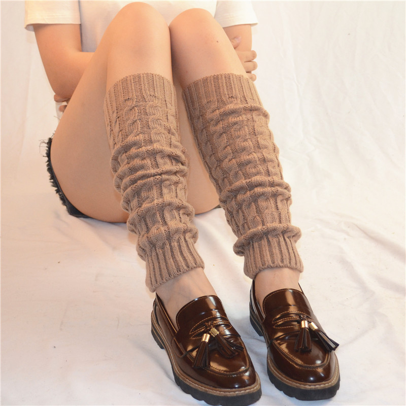Women Ladies Winter Spring Knit Crochet Leg Warmers Socks Boots Knee Trim Boot Warmer Solid Color Body Warmer Polainas