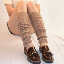 Women Ladies Winter Spring Knit Crochet Leg Warmers socks boots Knee Trim Boot Warmer Solid Color Body Warmer polainas цена 2017
