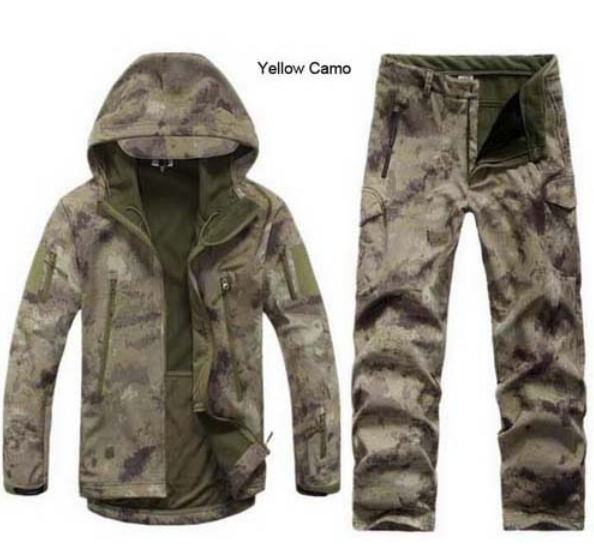 Military Fleece Uniform Soft-Shell Tad Camouflage Clothing Jacket Pants Shark-Skin Hunting