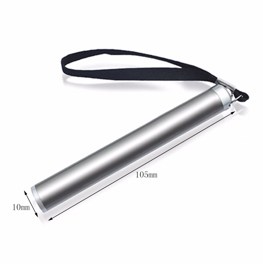 Stainless Steel Mini Penlight Waterproof LED Flashlight Battery Torch Portable Lantern Bright Light Small Size Convenient