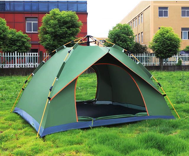 Hot Sale Automatic 1-2 Person Waterproof Fiberglass Pole Easy Folding Camping Tent, CZB-0027B Family Tent,backpacking tent