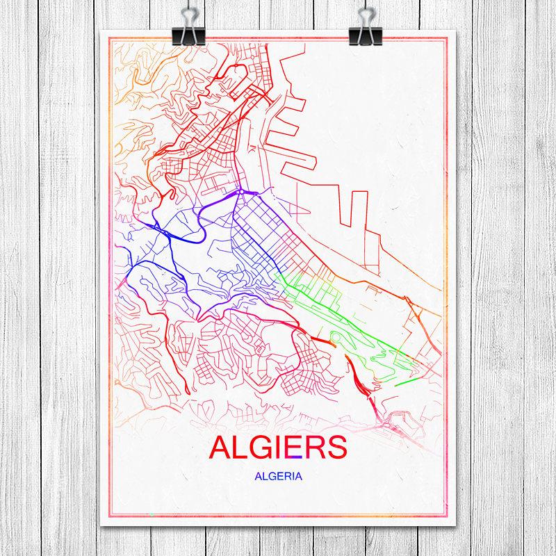 colorido mundo mapa da cidade de amsterdam holanda papel revestido de impresso poster abstrata bar pub
